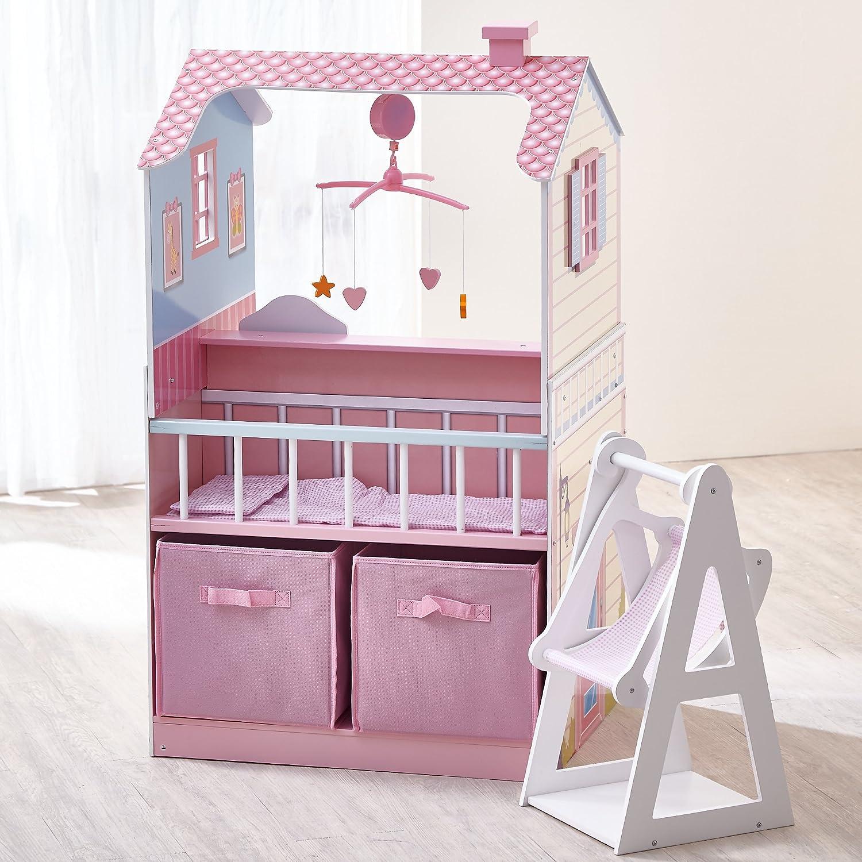 Genial Amazon.com: Oliviau0027s Little World   Oliviau0027s Classic Doll Changing Station  Dollhouse Pink: Toys U0026 Games