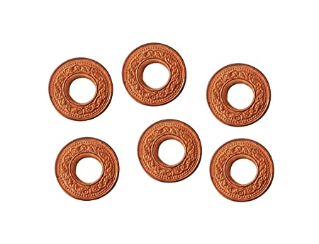 Ankita Gemstones Set of 6 Pcs Copper Coin With Hole, Copper Coin with Hole Puja Articles at amazon