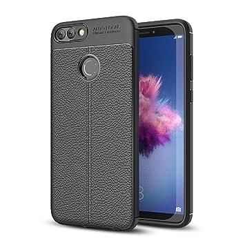 GeeRic Funda Compatible para Huawei P Smart, [Antideslizante] Anti-rasca la Carcasa del teléfono TPU del de la imitación Ninguna Case del teléfono ...