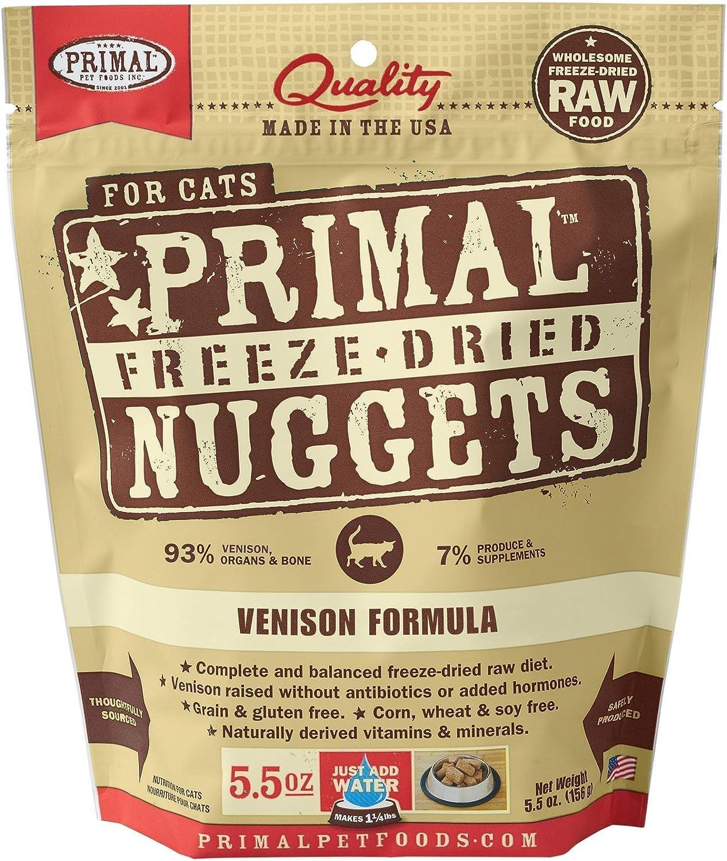 Primal 850334004966 Feline Venison Freeze Dried, 5.5, 5 Ounce