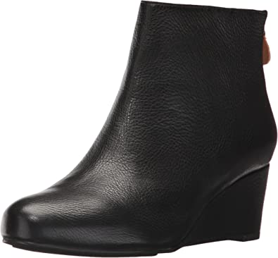 Vicki Low Wedge Bootie Leather Ankle