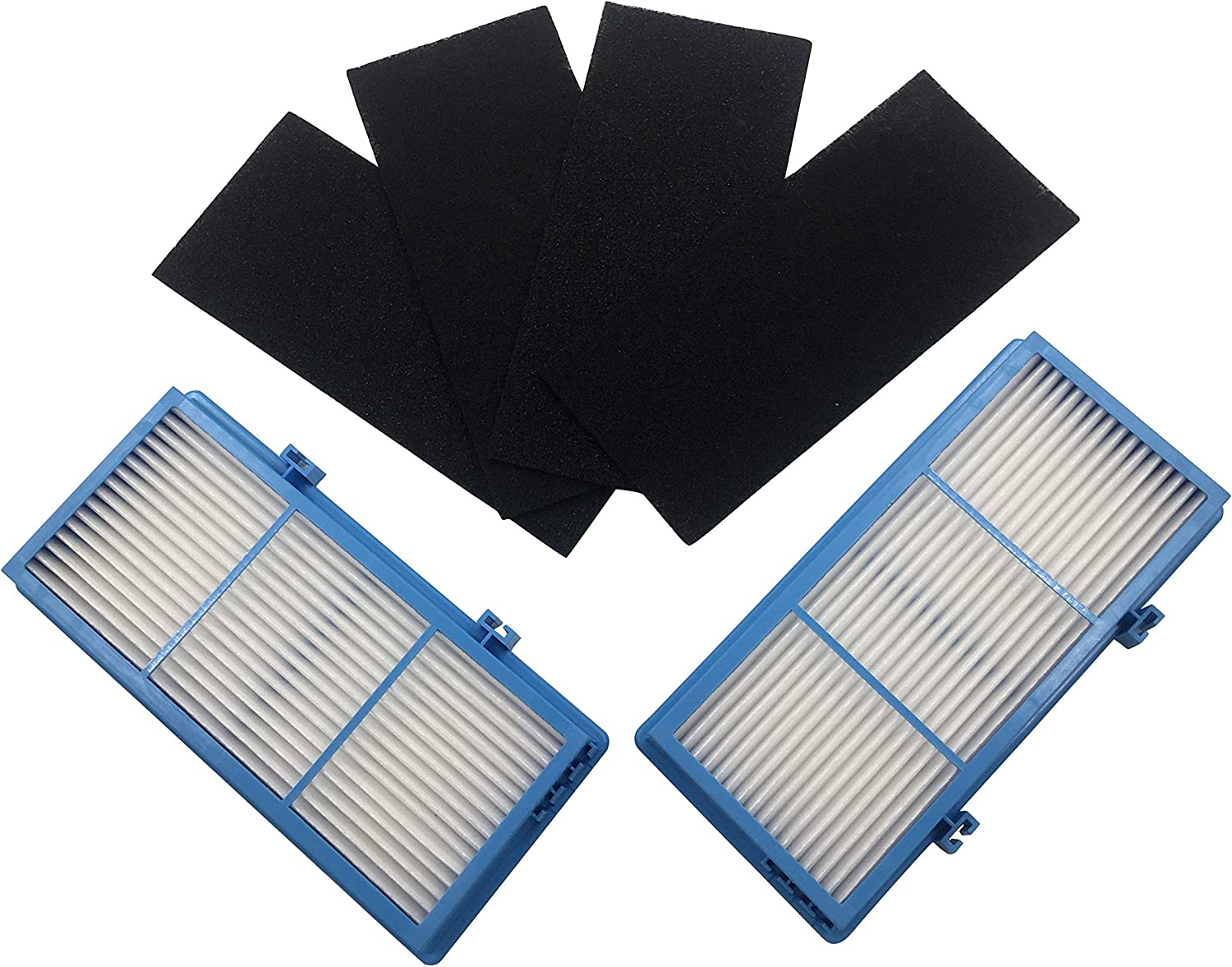 GreenR3 2-Pack Replacement HEPA Air Filter Kit For Holmes AER1 Total Air Fits HAPF30AT HAPF30AT4 HAP242 HAP412 HAP422 Bionaire BAP260 BAP815 BAP520 BAP825 Include 2xHEPA Filters + 4xCarbon Pre-Filters