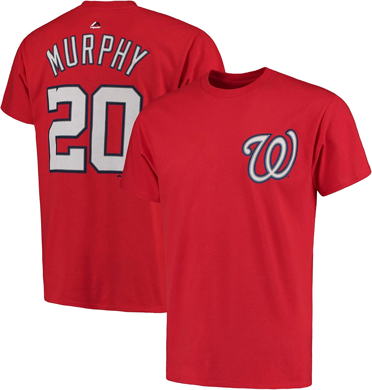 Daniel Murphy Washington Nationals Red Youth Player Name & Number T-Shirt