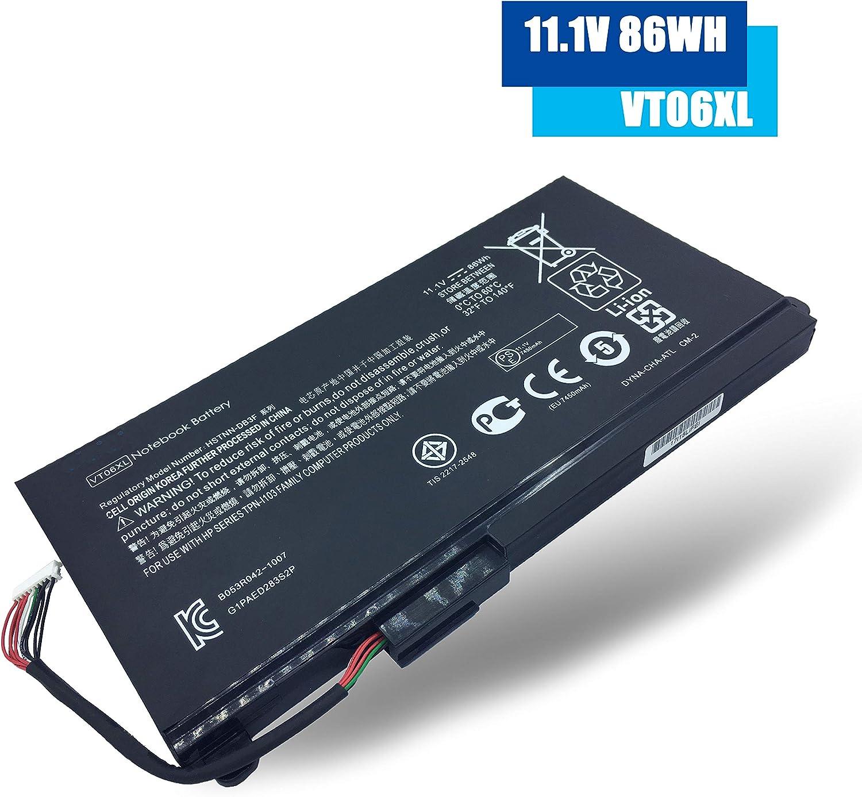 Emaks VT06XL Battery VT06 VT06086XL for HP Envy TPN-I103 17-3000 17t-3000 Series,P/N:HSTNN-DB3F HSTNN-IB3F 657240-151 657240-171 657240-251 657240-271 657503-001 996TA008H -10.8V 86Wh(7450mAh) 12-Cell