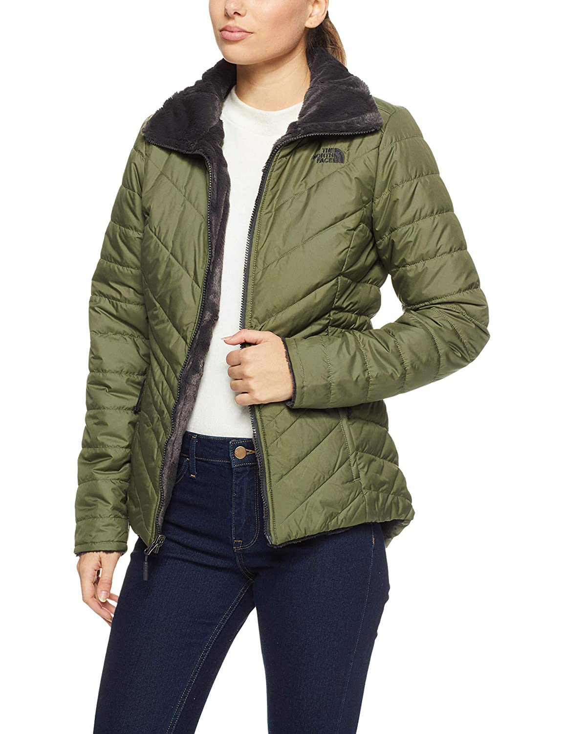 The North Face Women s Mossbud Insulated Reversible Jacket at Amazon Women s  Coats Shop 8ea5607e5