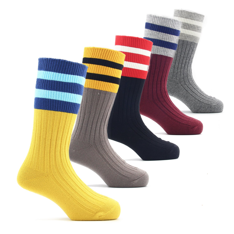 Boys Cotton Seamless Socks Crew Atheletic Sport Socks 5 Pack 6T/7T/8T