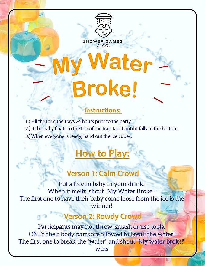 Amazon.com: My Water Broke - Juego de ducha para bebé con ...