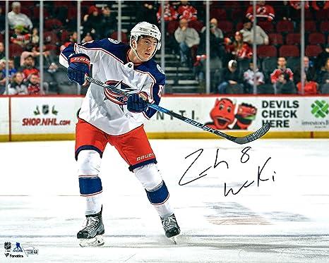 big sale 7e5a9 9cb35 Zach Werenski Columbus Blue Jackets Autographed 16