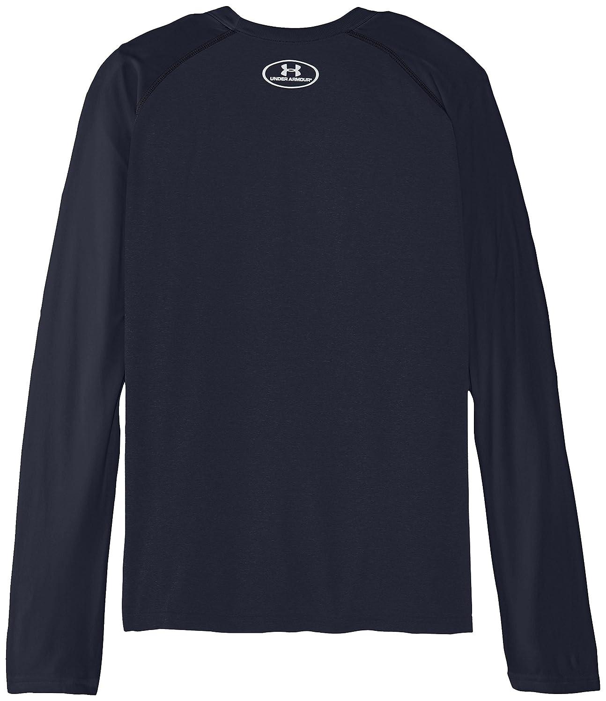 Under Armour Youth Boys Tech Long Sleeve Shirt Medium Anthracite//Glacier Gray