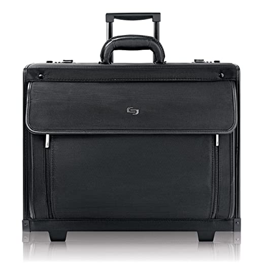 Solo Herald 15.6 Inch Rolling Laptop Catalog Case with Dual Combination  Locks, Black 2f6fbe48cd