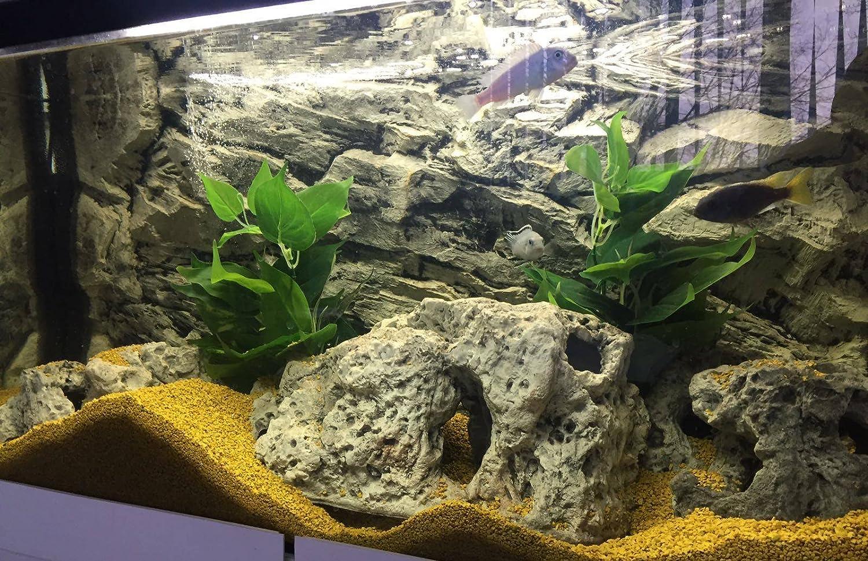Aqua Maniac - Figura decorativa para acuario con forma de cueva de pez para peceras, incluye 3 tamaños diferentes (25,5 x 14,5 x 11,5 cm, 35,5 x 16 x 17 cm, ...