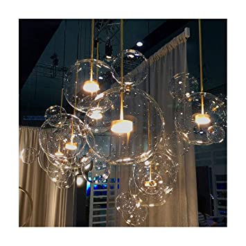 Nordic Restaurant Blase Ball LED Kronleuchter Bar Fenster Galerie  Wohnzimmer Lampe Kreative Glas Magische Bohne Molekularen
