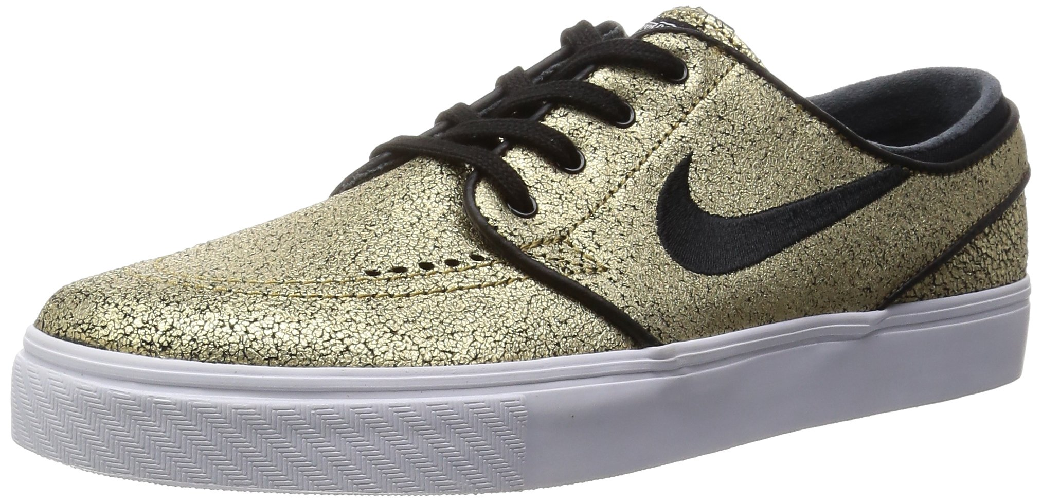 37f5417f24a1 Galleon - NIKE SB Zoom Stefan Janoski Leather Metallic Gold White Gum Light  Brown Black Skate Shoes-Men 8.5