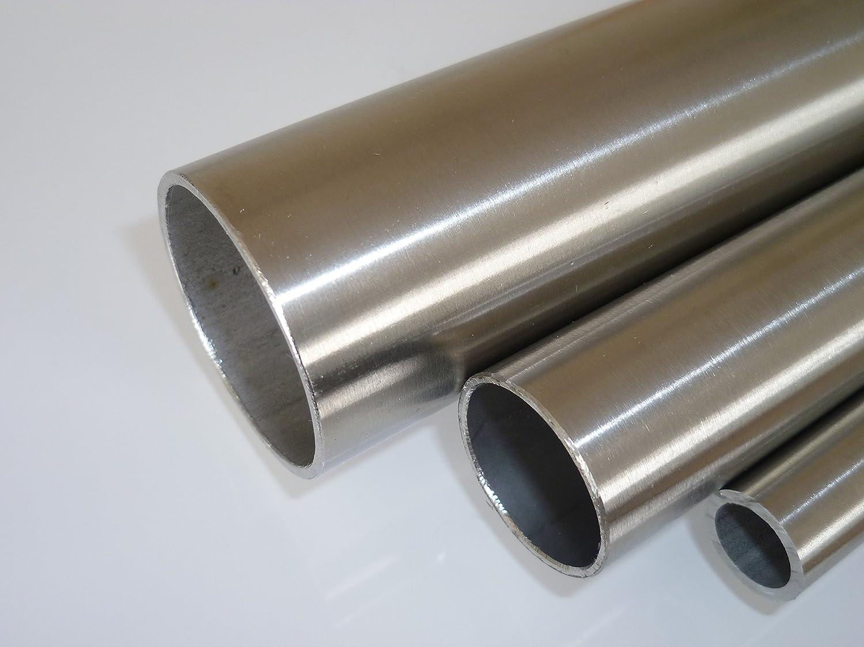 B& T Metall Edelstahl Rundrohr geschliffen, Ø 12,0 x 1,5 mm (3/8), Länge ca. 2,0m | Konstruktionsrohr K240 1.4301, längsnahtgeschweißt, Hohl-Profil [Energieklasse A] Ø 12 5 mm (3/8) Länge ca. 2