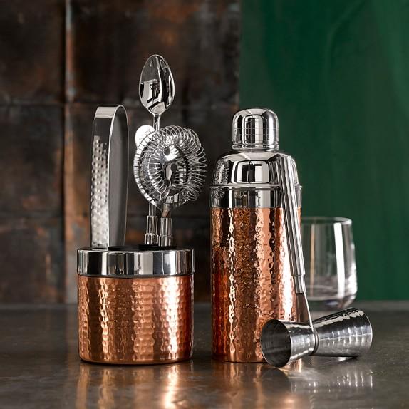 Copper Hammered Bar Tool Set | Williams-Sonoma