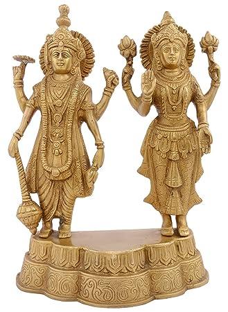 Amazon Com Kapasi Handicrafts Emporium Lord Vishnu Laxmi Standing