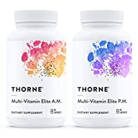 Thorne Research - Multi-Vitamin Elite - A.M. and P.M. Formula to Support a High-Performance...