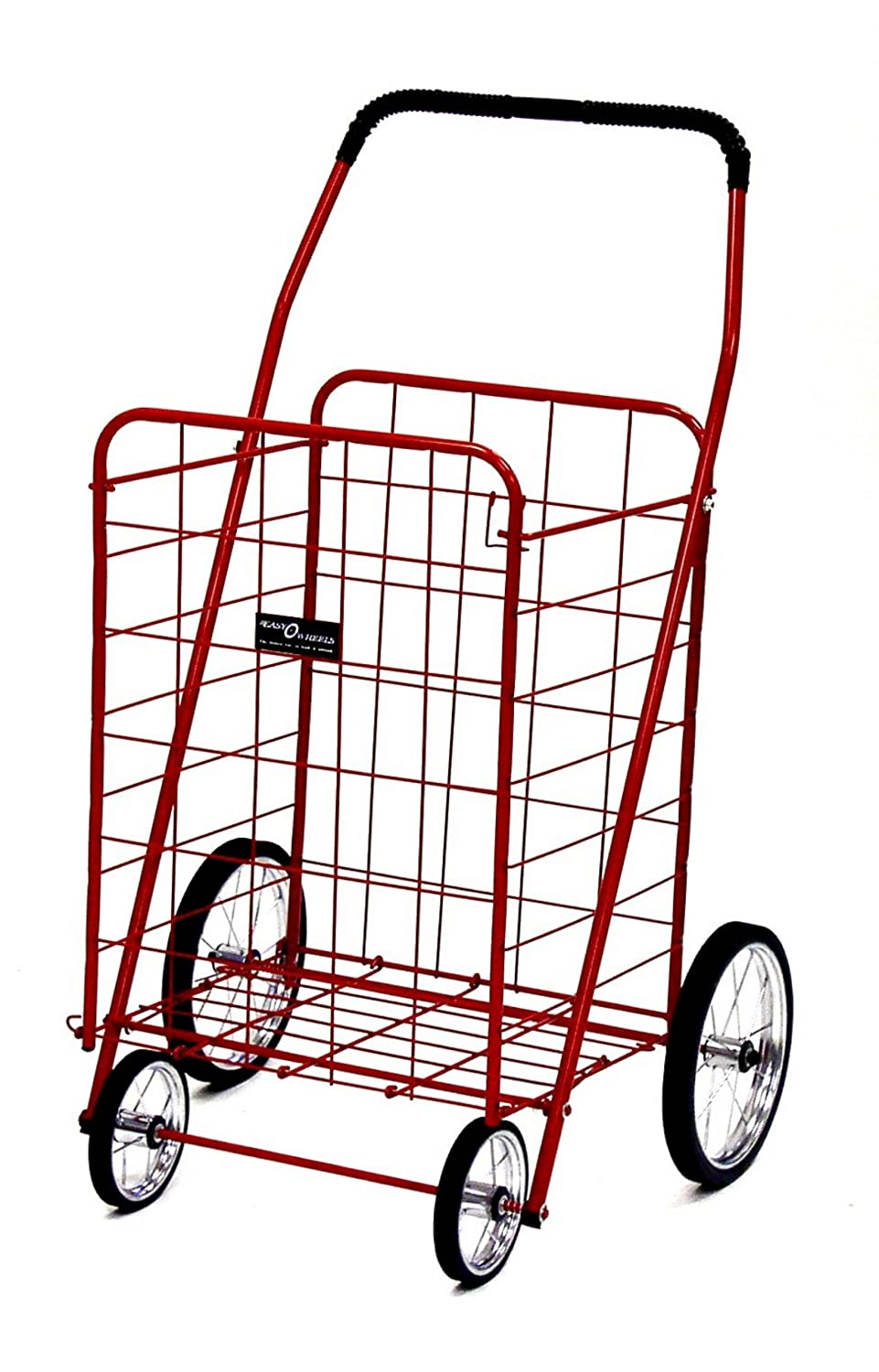 Easy Wheels 001RD Jumbo Shopping Cart, Red