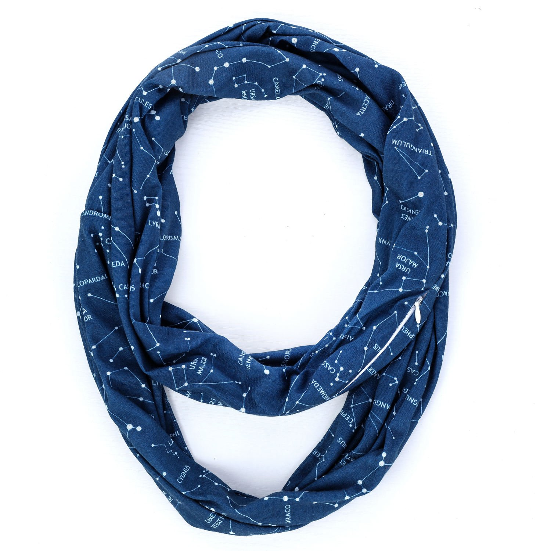 infinity bufanda cremallera bolsillo para viaje scarf-linked moda ...