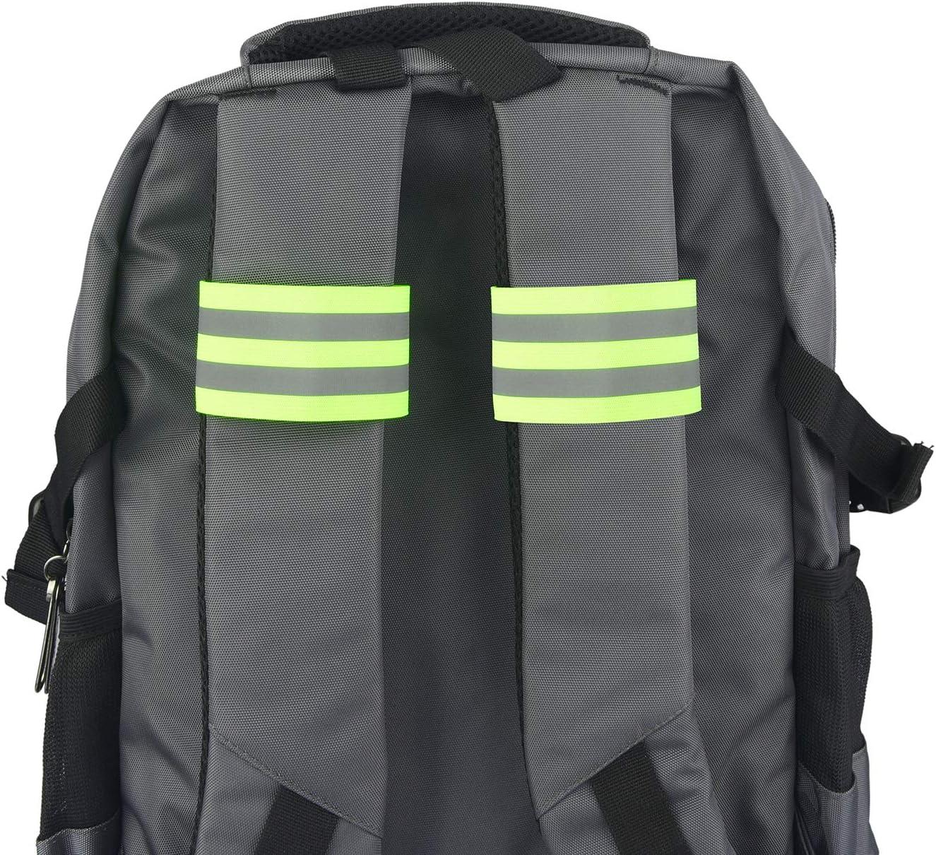 Jogging Corsa HOGAR AMO Fascia Catarifrangente Bracciale//Cintura di Sicurezza Bande Riflettenti per Esterno Adulti e Bambini Ciclismo
