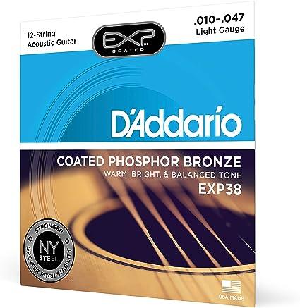 DAddario EXP38 - Juego de cuerdas para guitarra acústica de ...