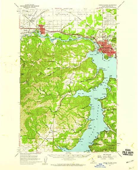 Amazon.com : YellowMaps Coeur D Alene ID topo map, 1:62500 ...