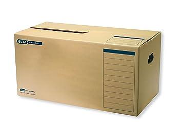 Elba 83531 - Caja de almacenamiento para archivadores y otros papeles (10 unidades), color marrón: Amazon.es: Oficina y papelería