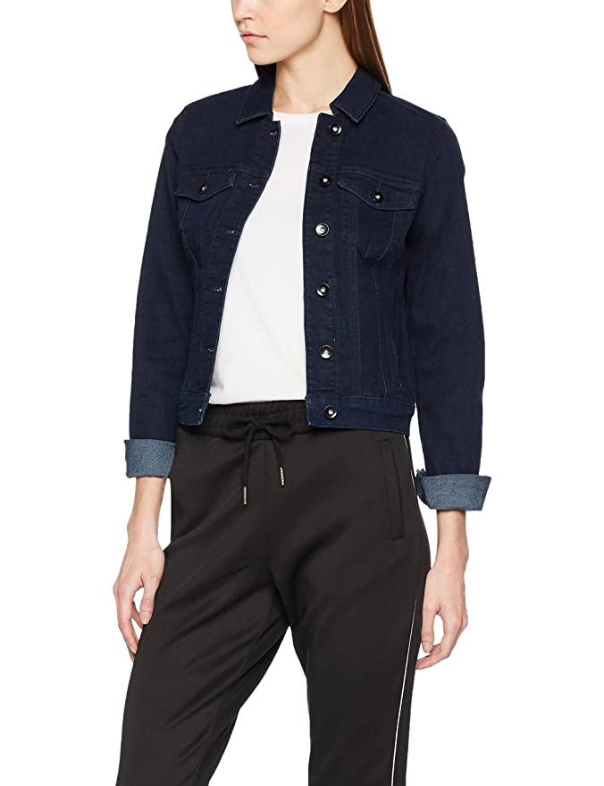 Vero Moda Vmhot SOYA LS Jacket Mix Noos, Chaqueta Vaquera para Mujer, Azul (Light Blue Denim), 38 (Talla del Fabricante: Medium)