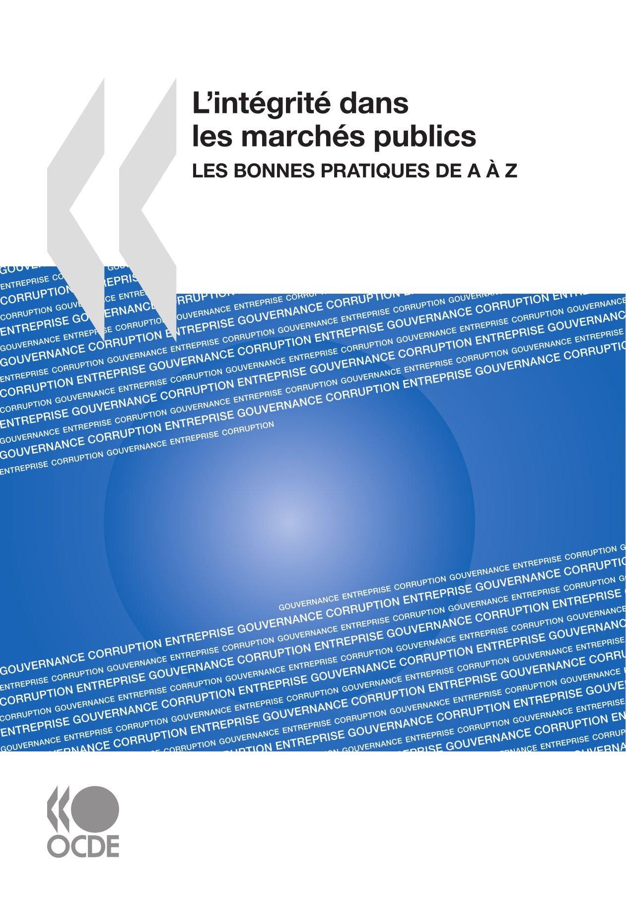 Read Online L'intégrité dans les marchés publics : Les bonnes pratiques de A à Z (French Edition) ebook