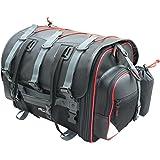 タナックス(TANAX) バイクバック シートバック フィールドシートバッグ ブラック (赤パイピング仕様) MFK-101R2 (可変容量39-59ℓ)