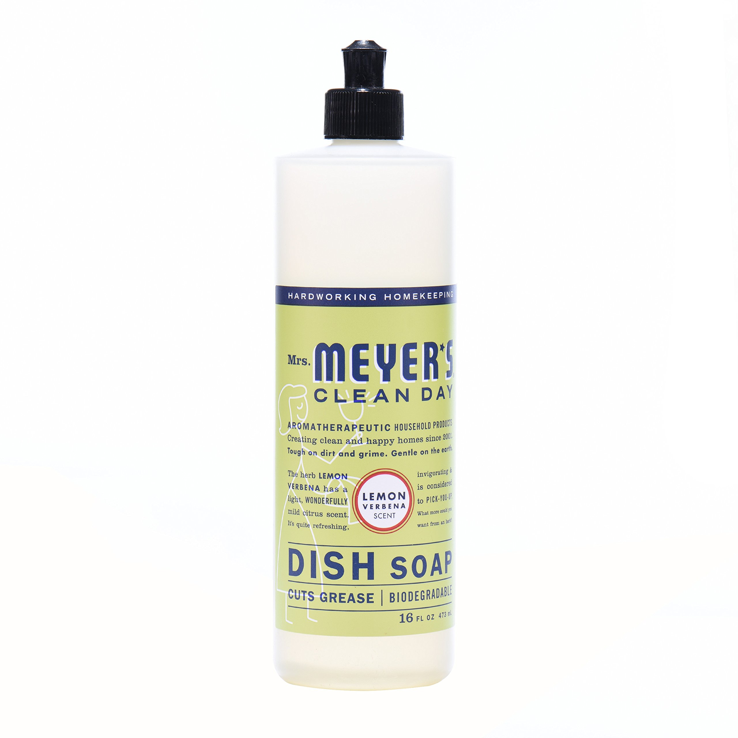 Mrs. Meyer's Clean Day Kitchen Basics Set, Lemon Verbena, 3 ct: Dish Soap (16 fl oz), Hand Soap (12.5 fl oz), Multi-Surface Everyday Cleaner (16 fl oz) by Mrs. Meyer's Clean Day (Image #3)
