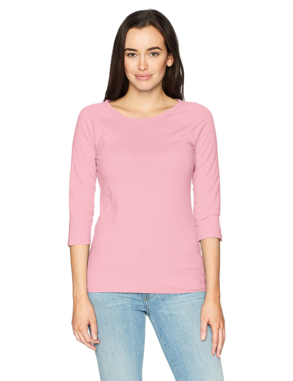ヘインズ 女性用ストレッチコットンラグラン袖Tシャツ B01N1RKRCY S|Paleo Pink Paleo Pink S
