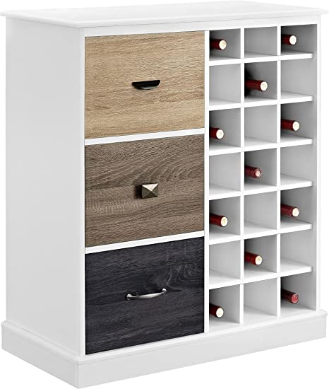 Magnificent Ameriwood Home Mercer Wine Cabinet With Multicolored Door Fronts White Interior Design Ideas Ghosoteloinfo