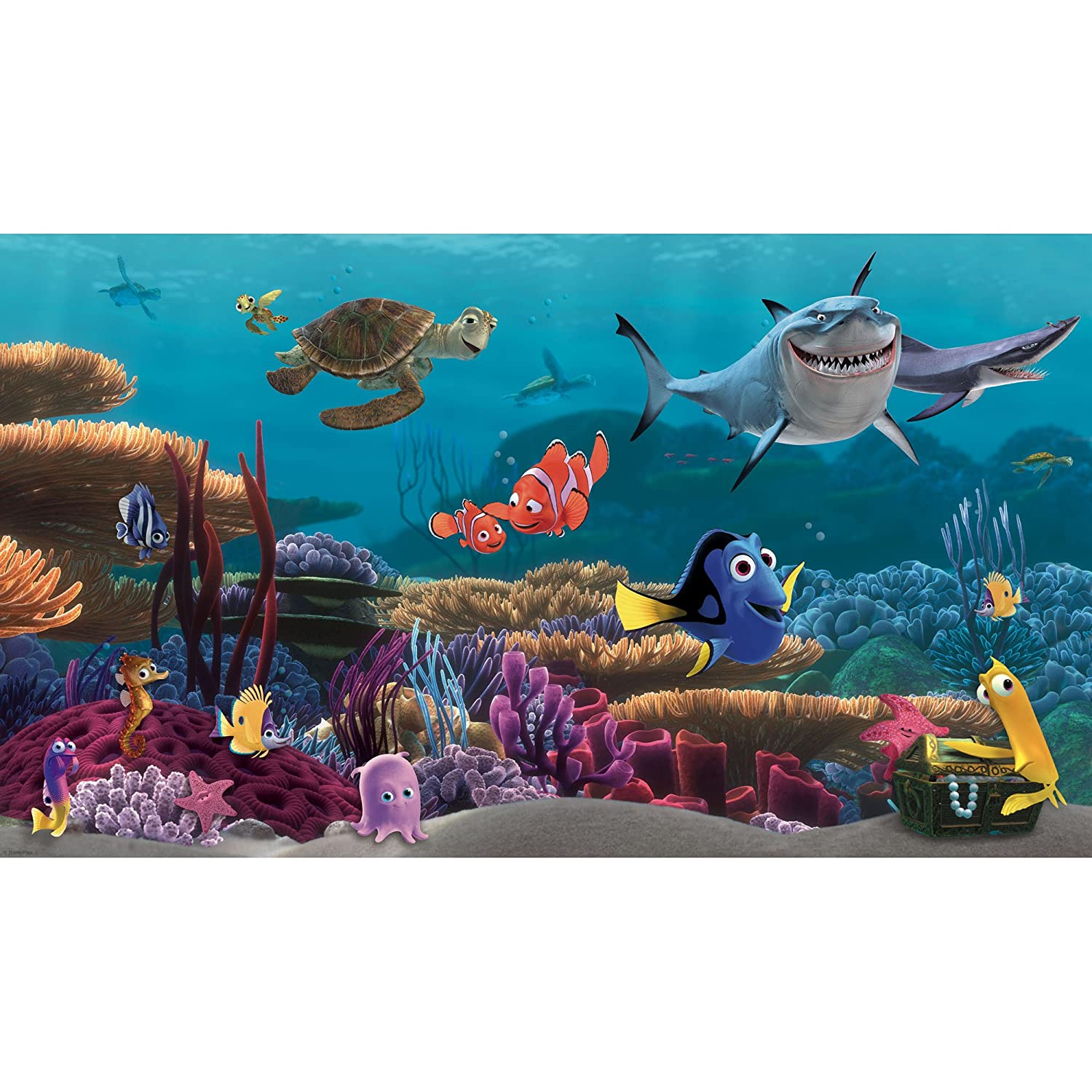 RoomMates JL1278M Finding Nemo Prepasted Mural 6 Feet By 10.5 Feet,  Ultra Strippable   Decorative Wall Appliques   Amazon.com Part 3