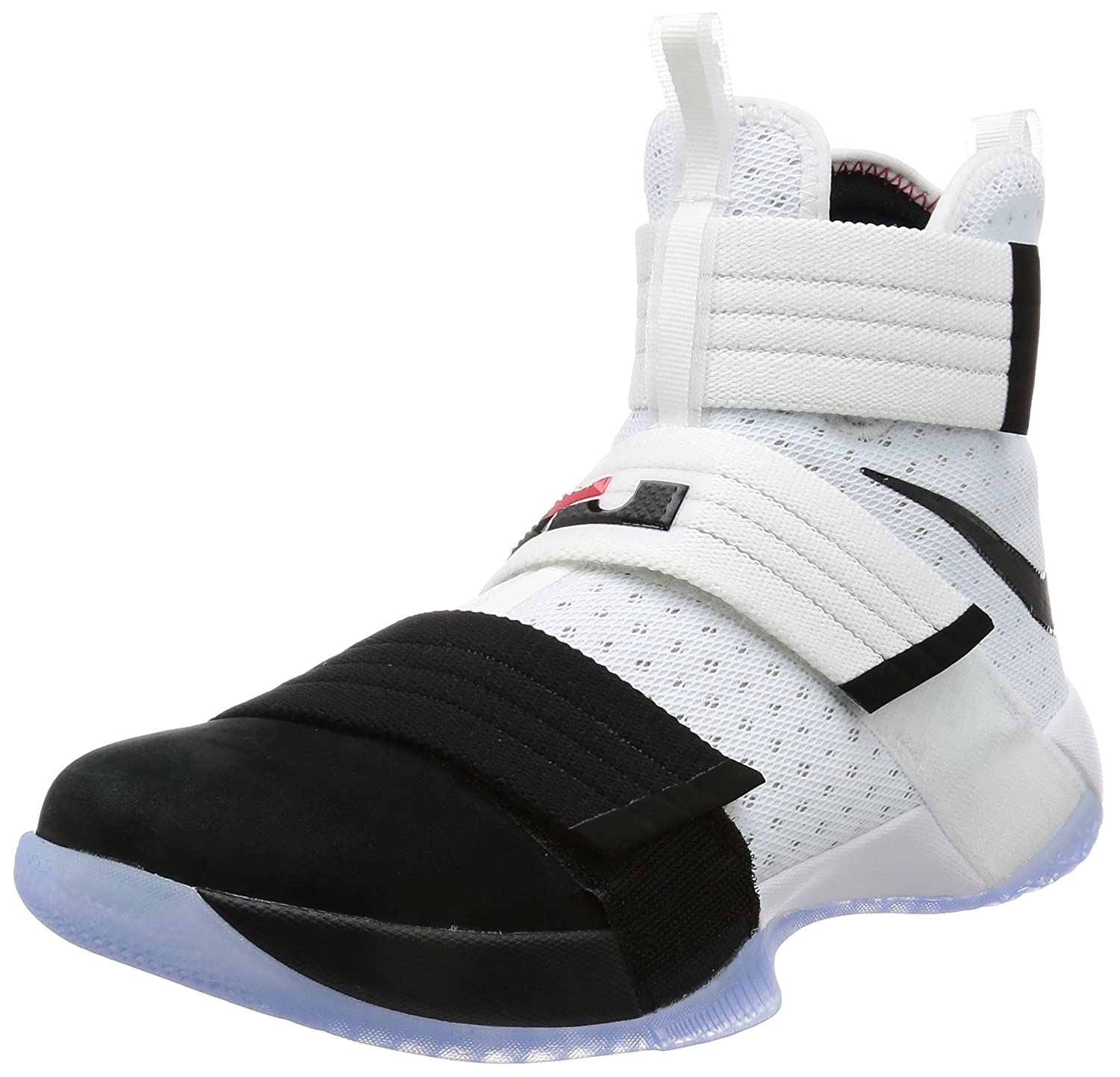 new style 7a640 888f5 Nike Men's Lebron Soldier 10 SFG EP, Black Toe-White/Black-Black