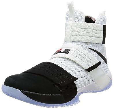 new style 322e7 982d6 Nike Men's Lebron Soldier 10 SFG EP, Black Toe-White/Black-Black