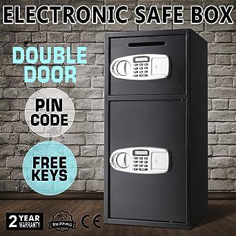 Autovictoria Caja Fuerte Empotrable Caja de seguridad doble puerta, Caja fuerte digital depósito de dinero