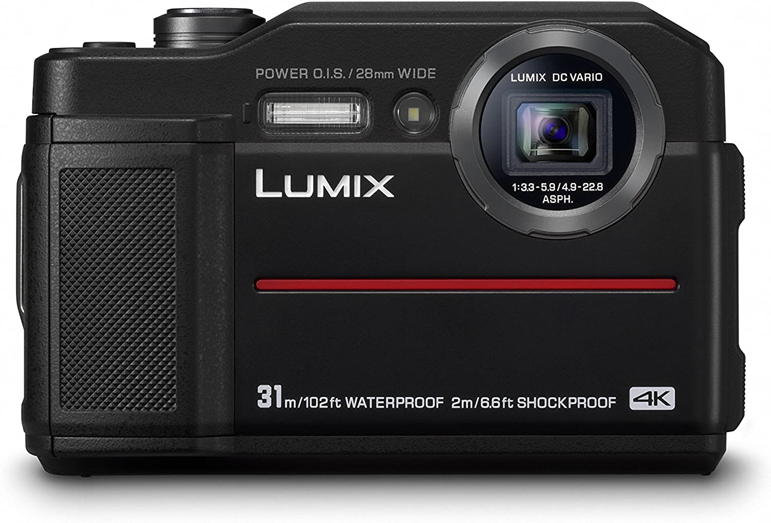 Panasonic Lumix DC-FT7EG-A - Cámara 4K acuática sumergible 20.4 MP ...