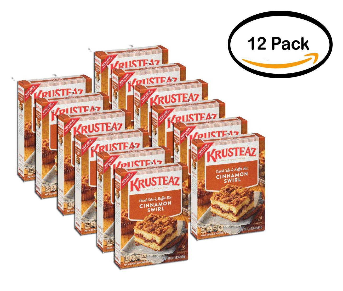 PACK OF 12 - Krusteaz Cinnamon Swirl Crumb Cake & Muffin Mix, 21 oz by Krusteaz