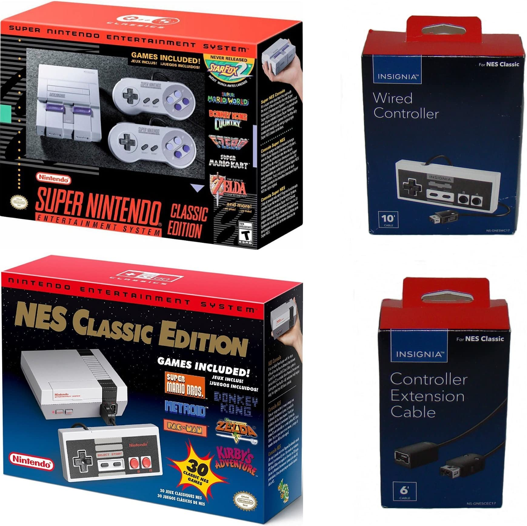 Amazon Com Nintendo Snes And Nes Classic Mini Console Bundle Video