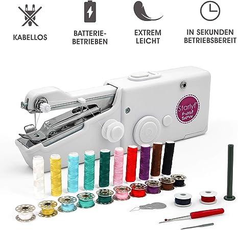 Starlyf Fast Sew 2 STK Mini máquina de coser a mano en viajes ✓ funciona con