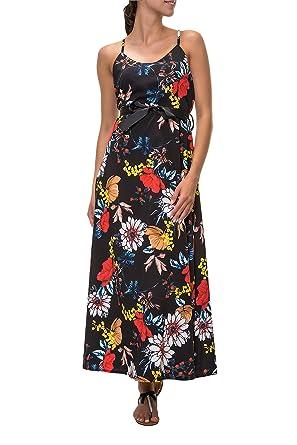 Hachiro Damen Maxikleid Sommerkleid Print Kleid  Amazon.de  Bekleidung 3d14df93b5