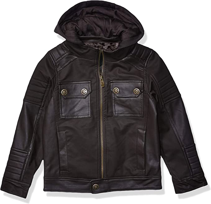 URBAN REPUBLIC boys Boys Textured Faux Leather Jacket