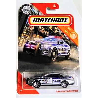 Matchbox 2020 MBX City Series Ford Police Interceptor 28/100 Die Cast Metal Police Car: Toys & Games