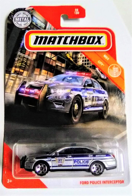 Amazon Com Matchbox 2020 Mbx City Series Ford Police Interceptor 28 100 Die Cast Metal Police Car Toys Games