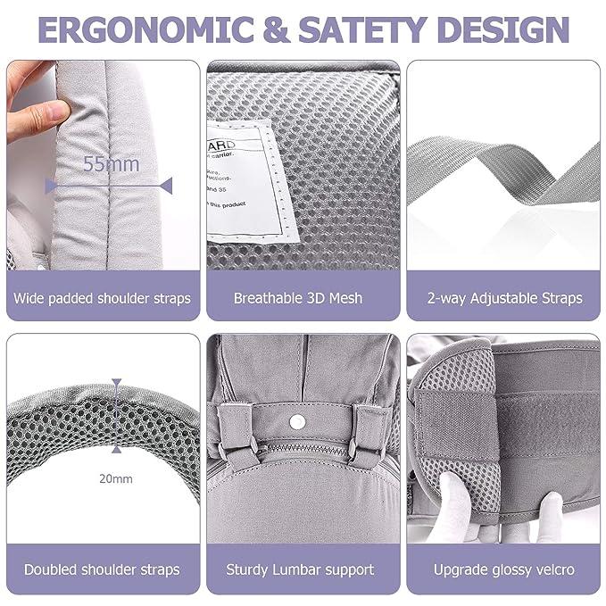 Mandii Baby Carrier Waist Stool Adjustable Breathable Newborn Infant Waist Belt Seat Nursing Covers