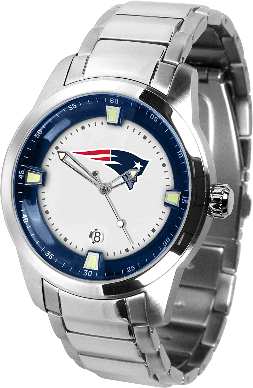 Game Time NFL New England Patriots Mens TitanWrist Watch, White, One Size