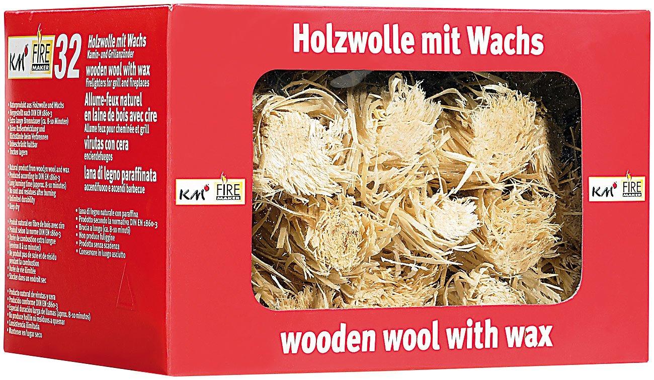 Encendedor de virutas de madera ecológica (32 unidades): Amazon.es: Jardín