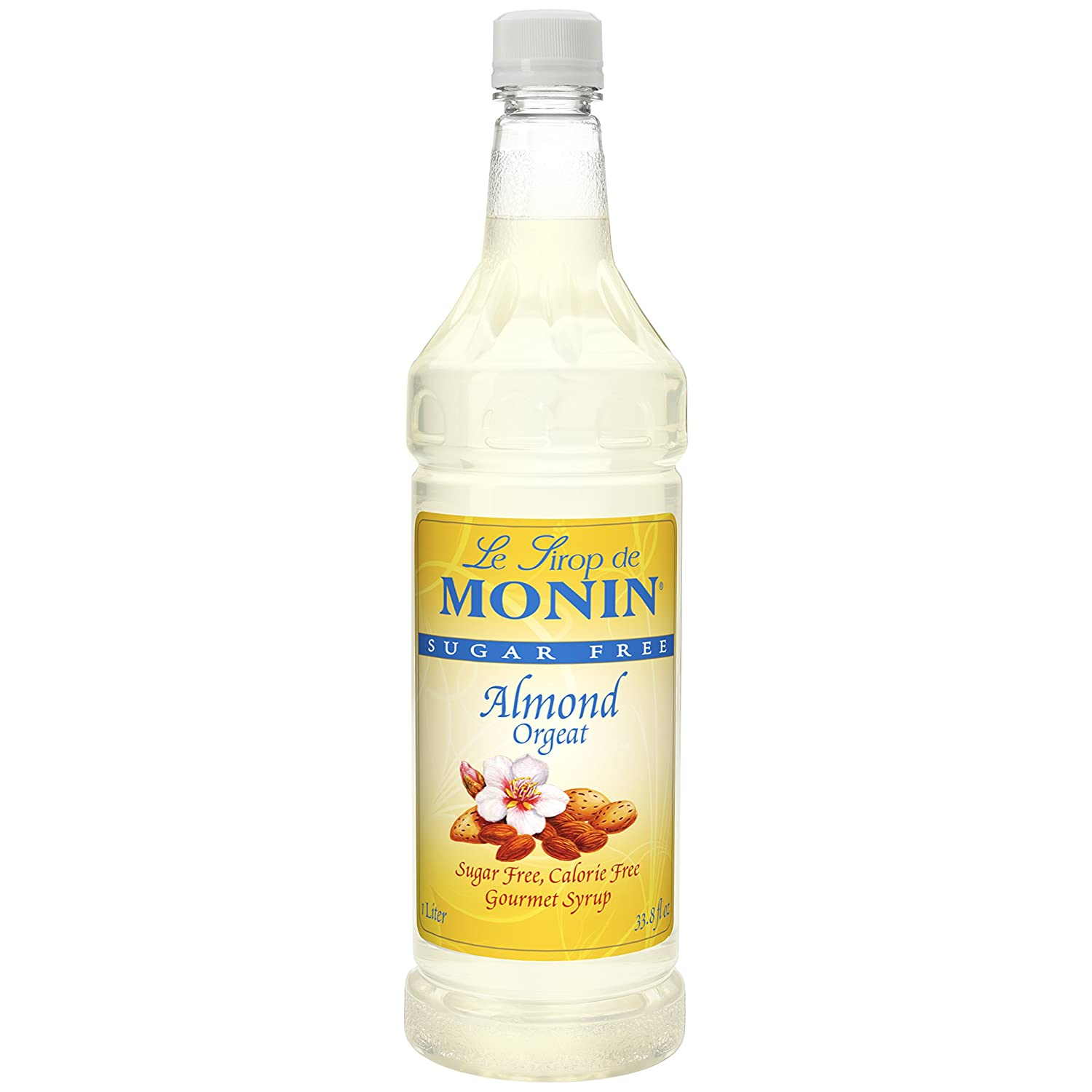 Amazon Com Monin Sugar Free Almond Syrup 1 Liter Pack Of 4 Grocery Gourmet Food