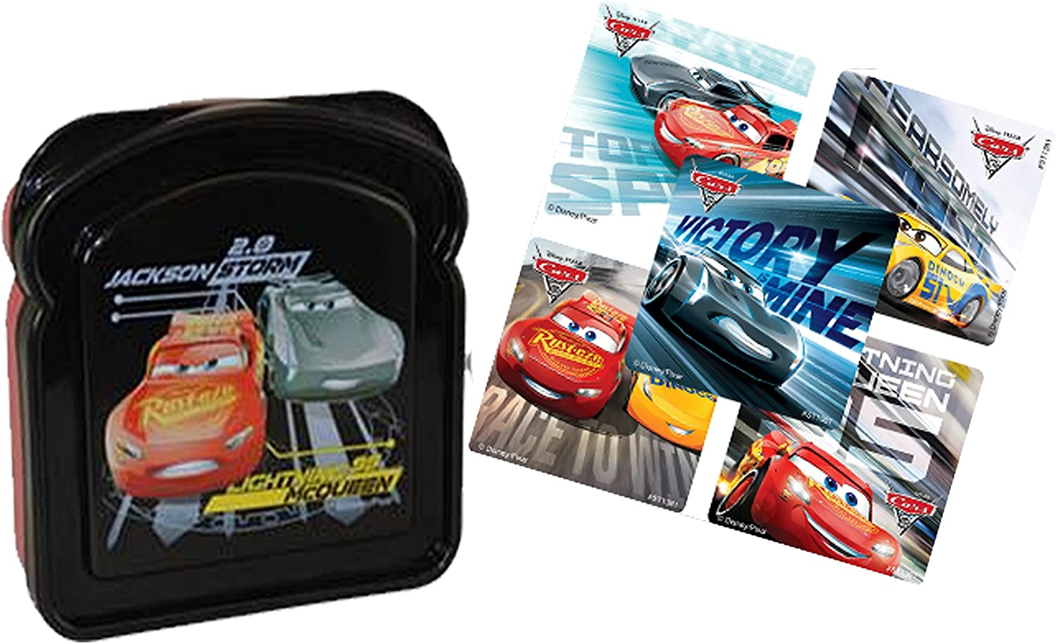 Disney Store Cars Lightning McQueen Lunch Box Tote Sandwich Bag New